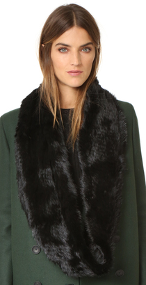 Jocelyn Fur Knitted Infinity Scarf $230 thestylecure.com