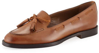 Manolo Blahnik Leather Loafers with Tassels
