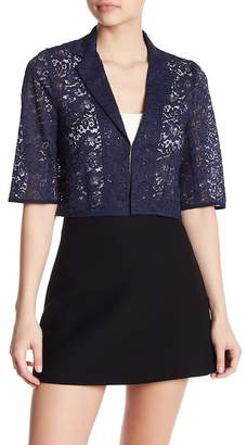 Nanette Lepore Speedway Boogie Lace Cropped Blazer
