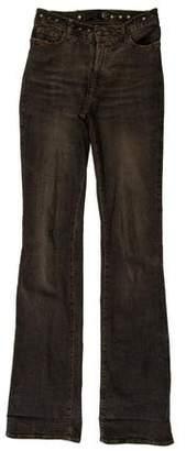 Just Cavalli Mid-Rise Embellished Jeans