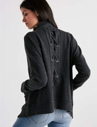 Lucky Brand LACE UP CARDIGAN