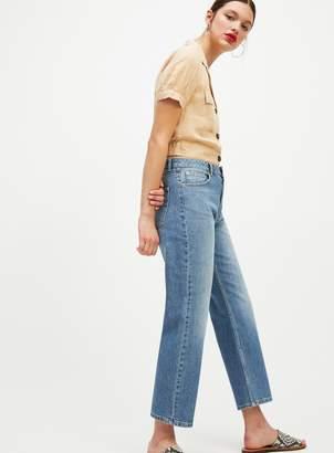 Miss Selfridge FAYE Blue Straight Leg Denim Jeans