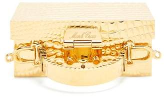 Mark Cross - Grace Mini Brass Box Bag - Womens - Gold