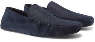 Loro Piana Walk At Home Suede And Cashmere Slippers