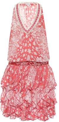 Poupette St Barth Beline ruffled printed dress