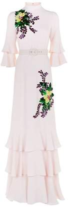 Andrew Gn Tiered Embellished Gown