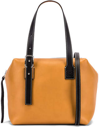 Loewe Cube Bag in Light Caramel & Black | FWRD