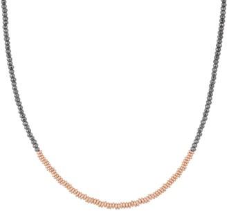 Bronzo Italia Faceted Hematite & Bronze Necklace