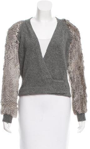 3.1 Phillip Lim3.1 Phillip Lim Fur-Trimmed Knit Cardigan