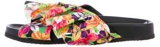 Joshua Sanders Floral Slide Sandals
