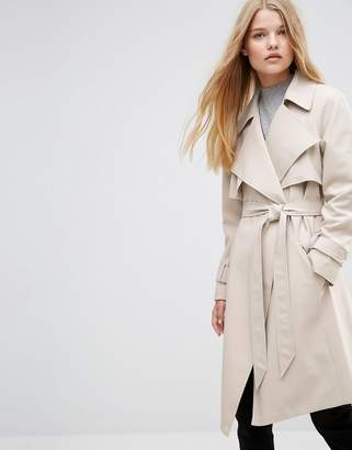 ASOS Trench with Waterfall Detail $111 thestylecure.com