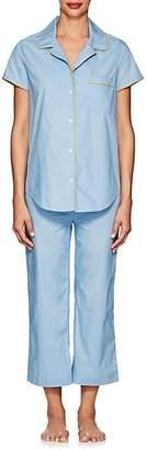 Barneys New York Women's Cotton Crop Pajama Set - Light Blue 9