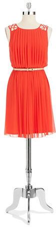 Jessica Simpson Pleated A-Line Dress
