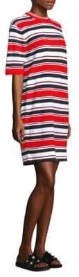 Marc Jacobs Stripe Textured Cocoon Dress