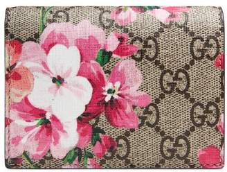 Gucci GG Blooms card case wallet