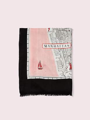 Kate Spade New york map oblong scarf