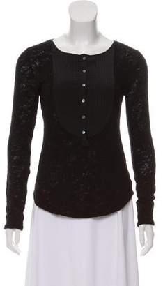 Marissa Webb Long Sleeve Knit Top