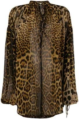 8a98a8208c97bf Leopard Print Silk Blouse - ShopStyle UK