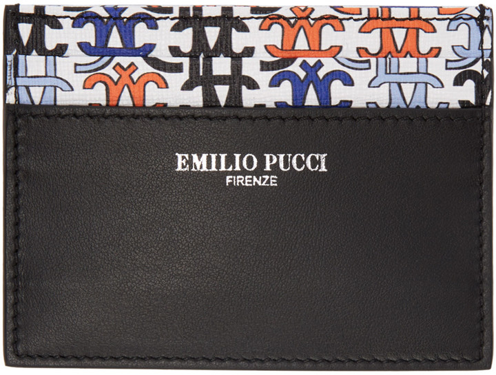 Emilio Pucci Emilio Pucci Black Logo Card Holder