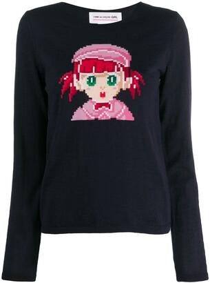 Comme des Garcons cartoon print sweater