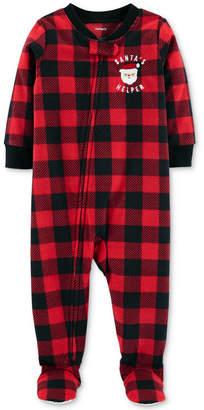Carter's Baby Boys Buffalo-Check Footed Fleece Pajamas
