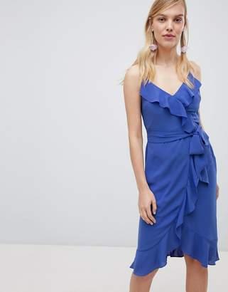 Oasis Cami Frill Front Wrap Midi Dress