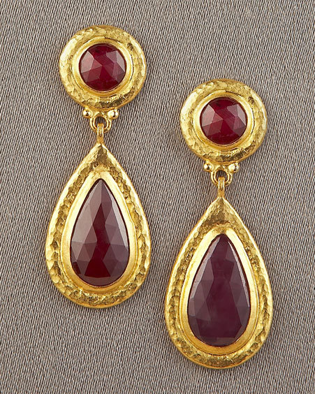 Gurhan Teardrop Ruby Earrings