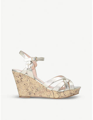 Miss KG Parisian metallic faux-leather wedge sandals