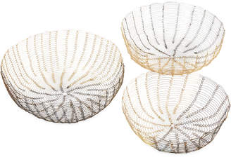 Jla Home Madison Park Lawton Wire Baskets, Set of 3