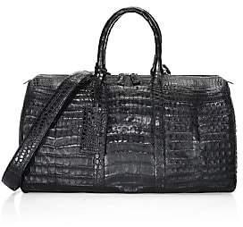 Santiago Gonzalez Men's Crocodile Weekender Bag