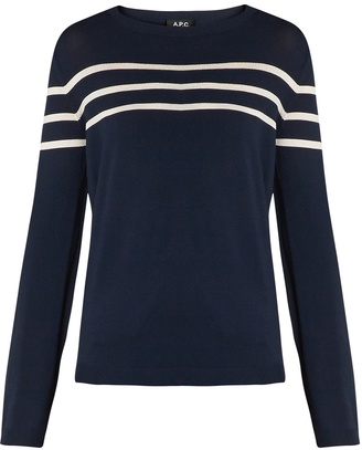 A.P.C. Pull Joy striped sweater $192 thestylecure.com