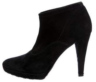 Valentino Suede Pointed-Toe Booties