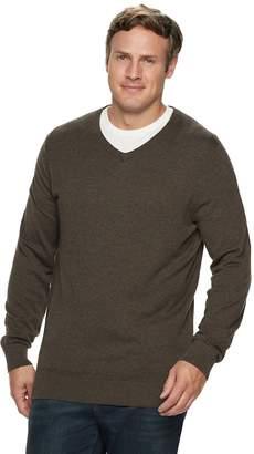 Croft & Barrow Big & Tall Classic-Fit 12GG V-Neck Sweater