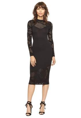 Fractured Pointelle Fitted Dress