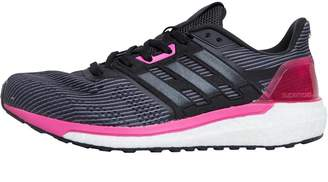 adidas Womens Supernova Neutral Running Shoes Utility Black/Core Black/Shock Pink
