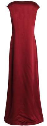 Rosetta Getty Draped Open-Back Duchesse-Satin Maxi Dress