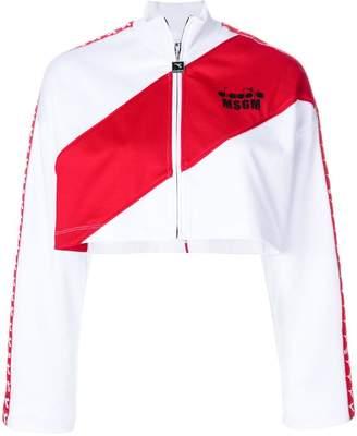 MSGM X Diadora cropped zipper jacket
