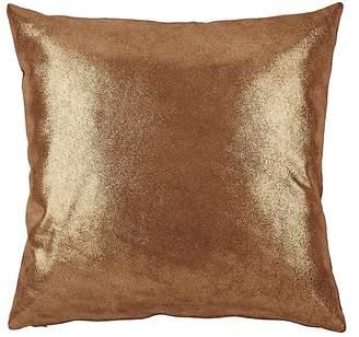 Barneys New York Metallic Leather Pillow