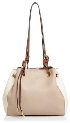 Tory Burch Caroline Small Leather Color-Block Shoulder Bag
