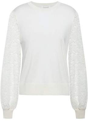 Zimmermann Lace-paneled Knitted Sweater