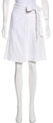 Diane von Furstenberg Eyelet Knee-Length Skirt