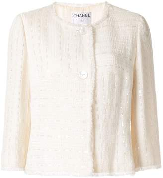 Chanel PRE-OWNED CC logos long sleeve jacket