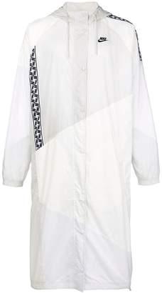Nike taped woven long coat