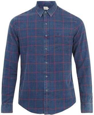 Faherty Ventura windowpane-plaid cotton shirt