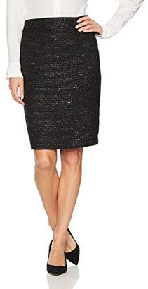 Nine West Women's Sequin Tweed Skirt