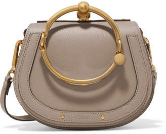 Chloé - Nile Small Textured-leather Shoulder Bag - Gray $1,550 thestylecure.com