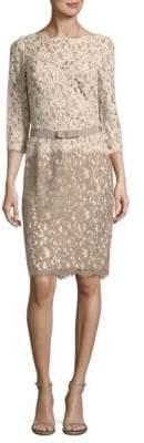 Tadashi Shoji Three-Quarter Sleeve Lace Dress