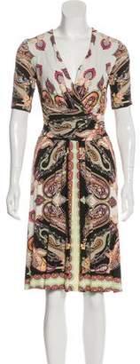 Etro Paisley Surplice Dress