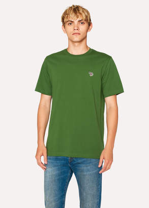 Paul Smith Men's Green Organic-Cotton Zebra Logo T-Shirt