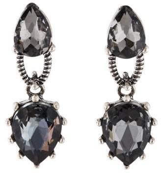 Oscar de la Renta Crystal Drop Earrings Silver Oscar de la Renta Crystal Drop Earrings